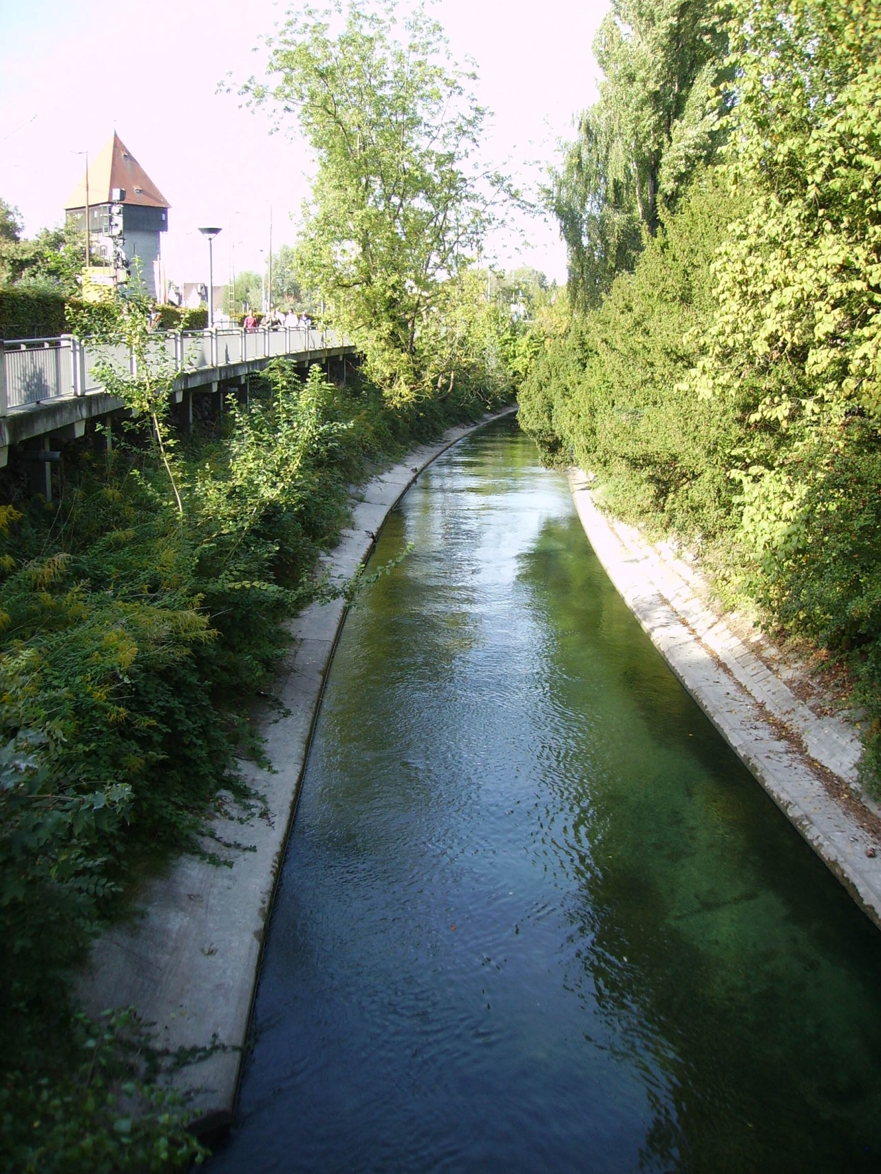 Small Rhine canal in Constance