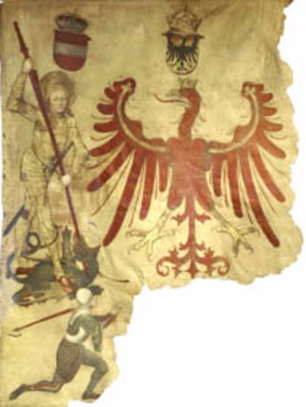 Fragment of the oldest banner of Tyrol